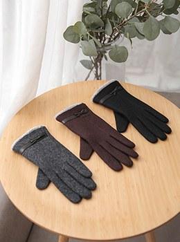 【YD-AC005]紐リボンウォムポブル手袋